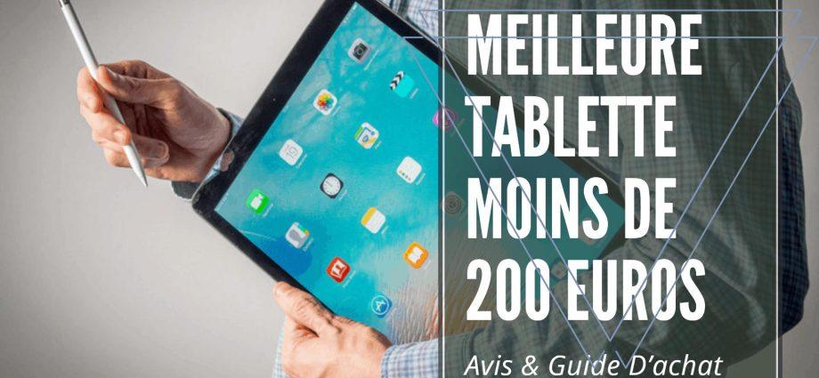 Les 7 meilleures tablettes à moins de 200 € en 2021 - Laboconso.com