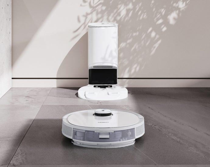 Le Robot Aspirateur Ecovacs DEEBOT T9 aspire, lave et parfume votre intérieur - Laboconso.com