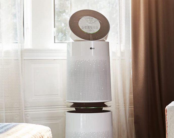 Test du purificateur d'air LG PuriCare 360 - Laboconso.com